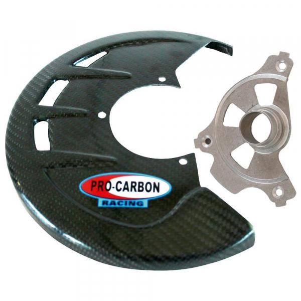 Carbon Bremsscheibenschutz vorne Kawasaki KX250F 04-05, Suzuki RMZ 250 04-06