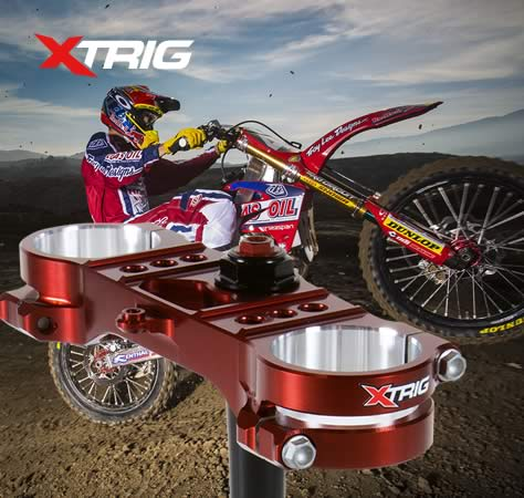 Xtrig triple clamp, Xtrig Motocross triple clamp, Xtrig ROCS, Xtrig ROCS tech
