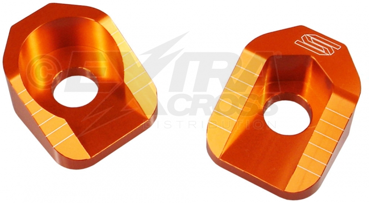 Scar Axle Blocks - KTM 65SX 02-15 - Farbe orange