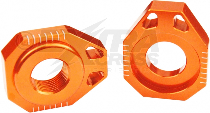 Scar Axle Blocks - KTM 85 SX / 105 SX 02-14 125-525 SX/-F SMR 02-12 125-525 EXC/-F 02-18 - orange