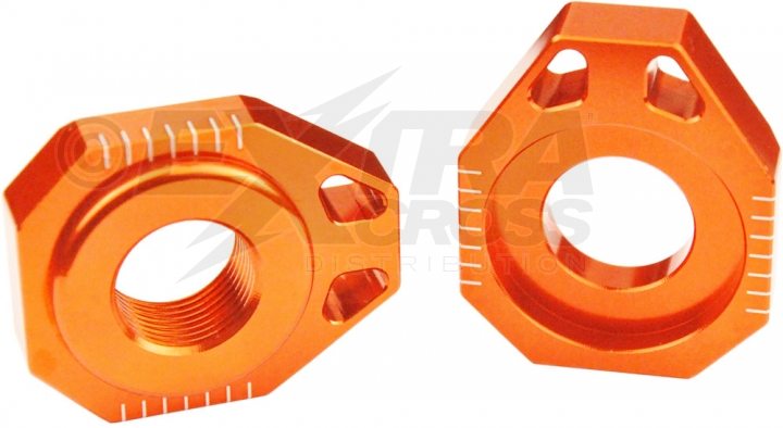 Scar Axle Blocks - KTM 125-525 SX SX-F XC XC-F SMR 13-18 - Farbe orange