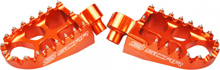 Scar Evolution MX Fußrasten - KTM 85/105 SX 98-16 Farbe orange