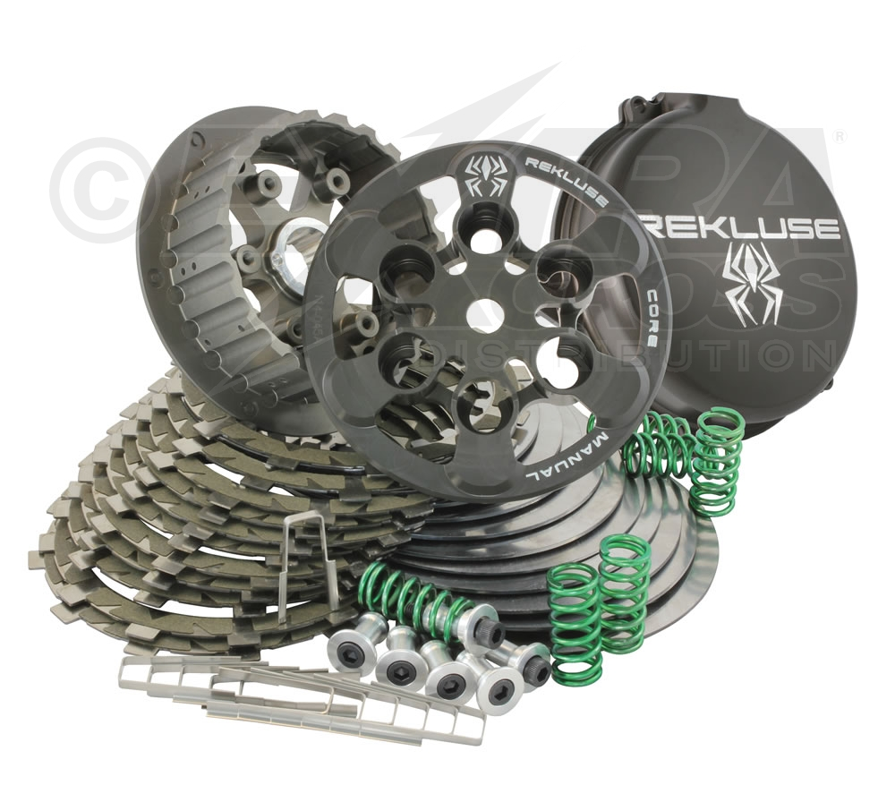 motocross shop - extracross - rekluse core manual torqdrive kupplung für yamaha  yfz450 atv/quad.  extracross distribution