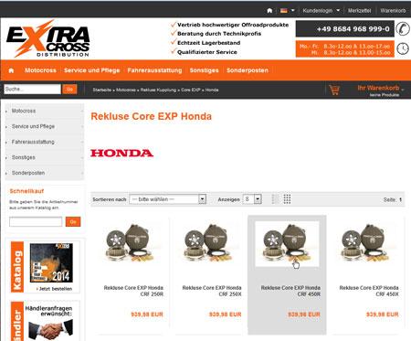 Rekluse Kupplung für Honda CRF 450